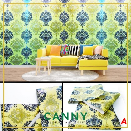 10 Meter 2D Embossed Quality Wallpaper 45cm x 10 Meters / Wallpaper 2D Corak 45cm x 10 Meters