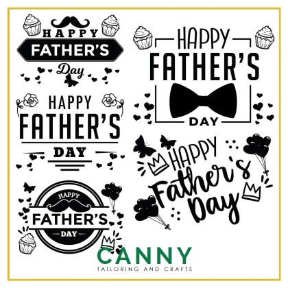 CUSTOMIZED BALLOON STICKER - HAPPY FATHERS DAY WORD A4 . A5 SIZE ( 1 PCS)