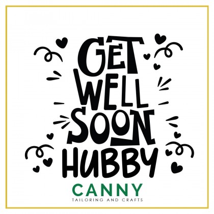 CUSTOMIZED BALLOON STICKER - GET WELL SOON WORD A4 . A5 SIZE ( 1 PCS)