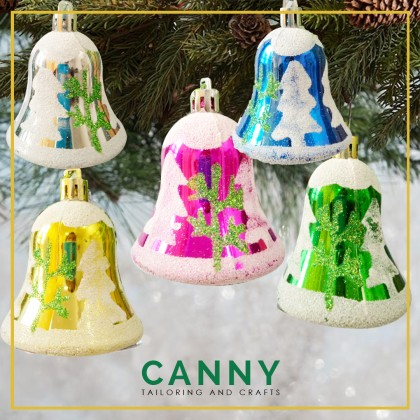CHRISTMAS BELL 6 PCS FOR DECORATION / CHRISTMAS BELL