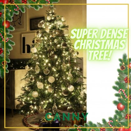 [READY STOK SHIP FROM MALAYSIA ] CHRISTMAS TREE EXTRA SUPER DENSE LEAVES WITH METAL SUPPORT 120CM , 150CM AND 180CM (1 SET)