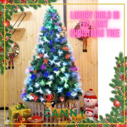 [READY STOK SHIP FROM MALAYSIA] LUXURY LED BUILD IN CHRISTMAS TREE HEAVY DENSE LEAVES WITH METAL SUPPORT (120CM / 150CM)