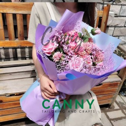20 PCS CHROME GLOSSY THICK QUALITY BOUQUET WRAPPING SHEET / WATERPROOF / FLOWER WRAPPING (20 PCS) [CODE: WP-BJ1002]