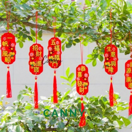 [CNY 2021 SPECIAL] 6 PCS CNY LITTLE HANGING CARD FOR DECORATION / TREE DECO / 小牌子 树装饰 ,新年装饰 迷你小牌 恭喜发财 [KOD XX25]