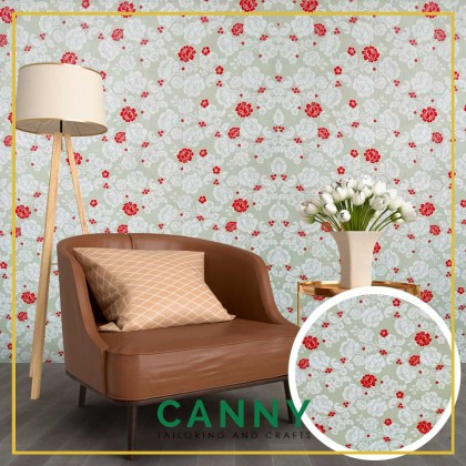 2D Wallpaper Sticker PVC Floral 45cm x 10 Meters Water Proof