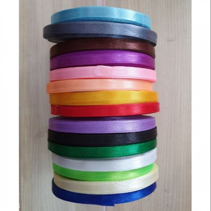 25 yards Satin Ribbon 1/4 inch / 25 yard Reben Satin 1/4 inci (1 roll)